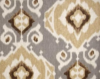 One 20 x 46 Custom Body Pillow Cover - Cotton - Geometric Damask Fossil - Beige Brown Tan Grey