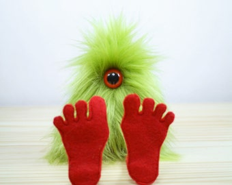 Nervous Nelly Plush Monster Toy- Green and Red