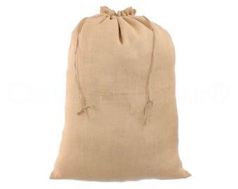 "10 Pack - 18"" x 24"" Burlap Bags - Natural Eco-Friendly Burlap Bags with Jute Drawstring - Weddings Parties Decor - Large Gunny Sack - 18x24"