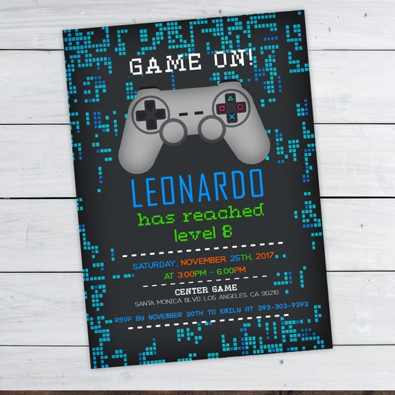 Video Game Invitations Video Game Party Invitation Video