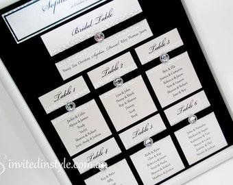 FRAMED, Fully Assembled Wedding Seating Plan/Chart/Arrangement - CUSTOMISABLE