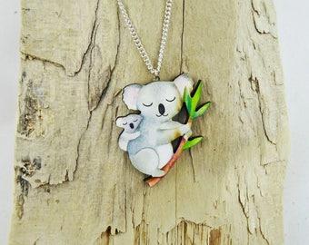 Mumma and Baby Koala Necklace