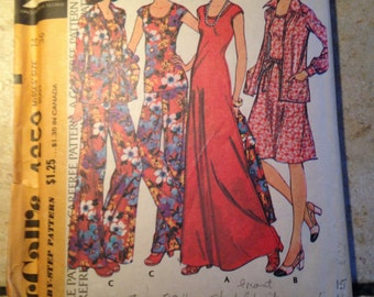 McCall's 4250 Size 14 Misses' Dress, Top, Jacket, and Pants Pattern