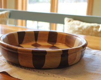 Wooden Segmented Hand Turned Bowl