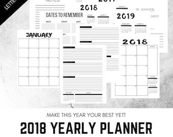2018 Weekly Planner, Printable Planner, Journal Layout, Calendar, Planner, Schedule, Printable