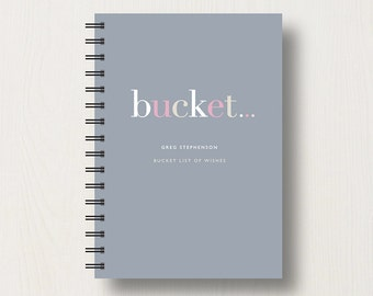 Personalised Bucket List Journal or Notebook