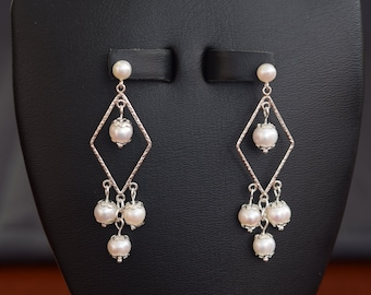 Sterling Silver white fresh water pearl