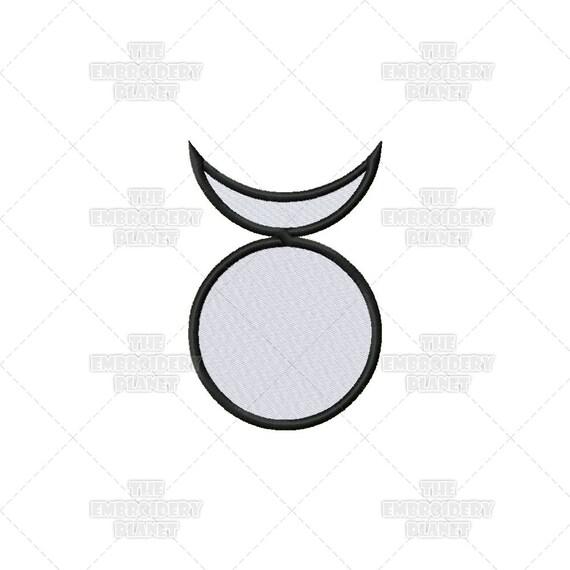 Hollow God Moon Wiccan Pagan Spiritual Religious Sacred Symbol