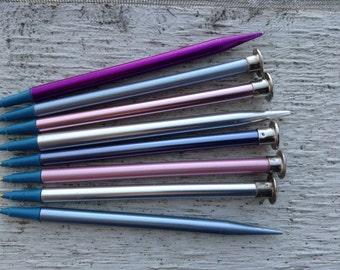 Knitting needle pens