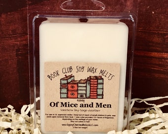 Of Mice and Men - Book Club - Gift - Scented Soy Candle Melt - Book Lover Gift - Book Candle Tart - Book lovers Tart - Booklover - Steinbeck