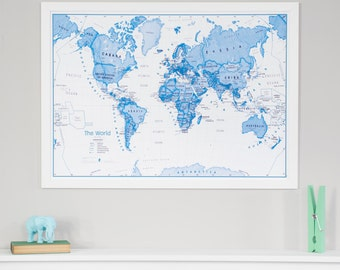 Classic World Map Home Decor Living Room Bedroom Wall - Large world map wall hanging