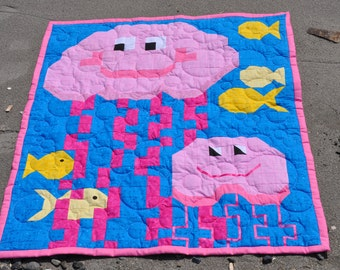 Jellyfish Quilt pattern with 3 sizes - PDF