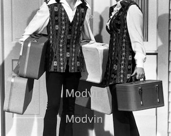David Cassidy and Shirley Jones Print Black and White Partridge Family