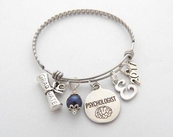 Psychologist Gift, Psychologist Graduation Bracelet, Psychologist Jewelry, Child Psychologist, School Psychologist, College Graduation Gift