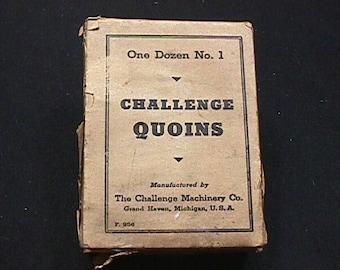 24 Antique Challenge Printing Letter Press Quins in three Original Box