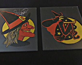 Witches | Beistle Company | Vintage Halloween Decor | Cardboard Paper Die Cut