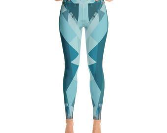 Glaze + Yoga Leggings + by Phantom Rae Designs / Women's made in USA high quality workout pants / modern design