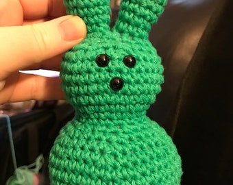 Crochet Peep Marshmallow Easter Bunny - Choose Colors