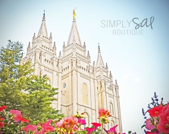 Salt Lake City Temple Picture - Digital Download Photograph - Printable