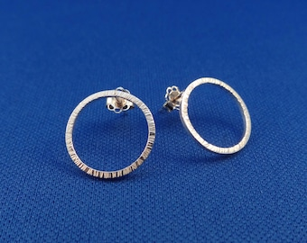 Elegant Earrings made of Sterling Silver Square Wire