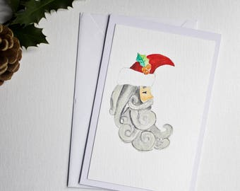 Christmas greeting card / Santa Claus