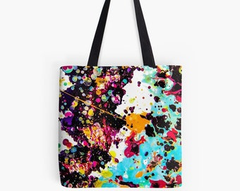 galaxy art tote bag — queer abstract art purse » quirky pack » artist satchel » trendy bag » colorful tote » unusual art bag