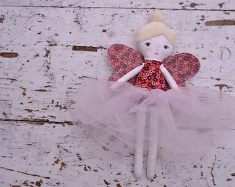 Little fairy doll in red with tutu dress