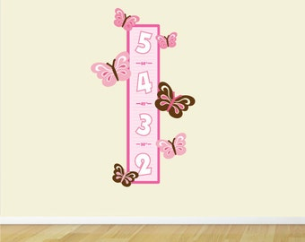 Growth Chart, Butterfly Growth Chart Fabric Wall Decal