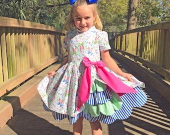 Amanda Nicole Ellies Scalloped Dress - Toddler Clothing - Toddler Dress - Girls Clothing - Girls Dress - Size 5T