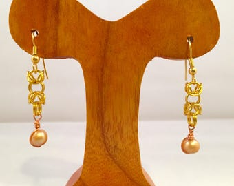 Byzantine & Pearl Earrings