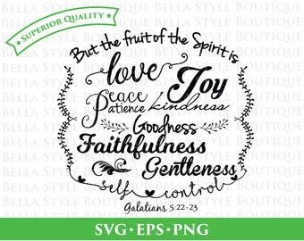 Fruit of the Spirit svg png eps cut file