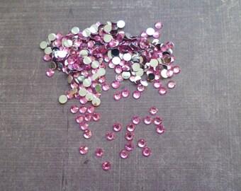Lot of 400 rhinestones 4 mm pink