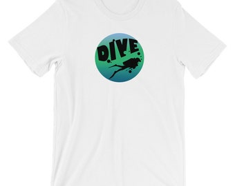 Divers Shadow T-shirt Deep Sea Diver Tee