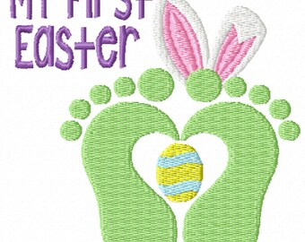 My First Easter 2- A Machine Embroidery Design for Baby's First Easter