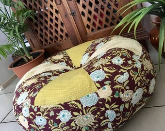 SALE Unfilled 24 Inch Diameter La Boheme Pouffe Cover with Tuffet, Made in Australia, Boho, Bohemian, Pouf, Floor Cushion, Floor Pillow