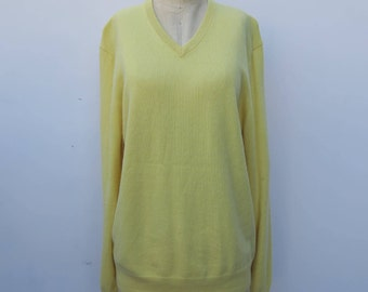 0732 - Vintage Yellow Cashmere Sweater