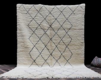 6x9 Lovely washable soft wool rug - Original Beni ourain rug - Authentic Beniourain rug - Moroccan rug - Morocco rug - Berber rug - boho
