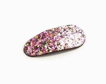 Glitter Snap Clip in Confetti Colors