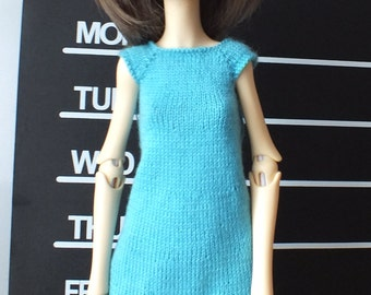 Handmade knitted Doll Chateau Kid BJD slim MSD dress