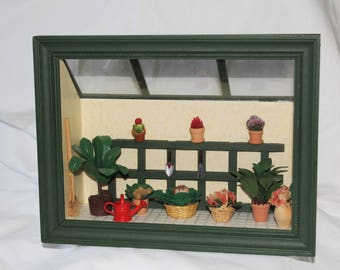 miniature florist greenhouse window