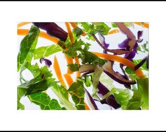 Salad Print Wall Art, Printable Salad Photograph, Kitchen Decor, Salad Poster, Modern Art, Abstract Art