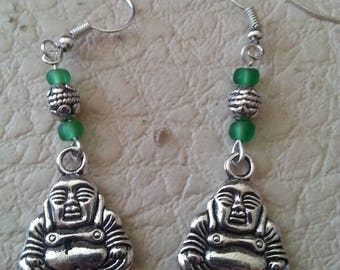 ethnic earrings black green