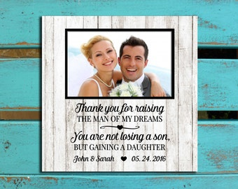 Parents of the Groom gift, Wedding gift for parents, Thank you gift for parents, Parents of the bride gift, Wedding photo mat, Parents gift