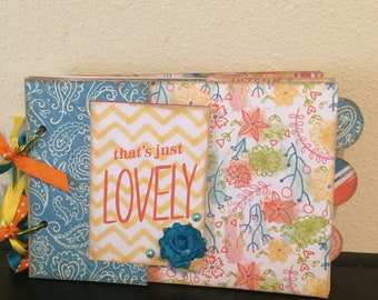 Spring Fun Paper Bag Scrapbook