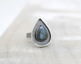 Labradorite Ring - Sterling Silver Gemstone Ring - Gift for Her - Jewelry Sale