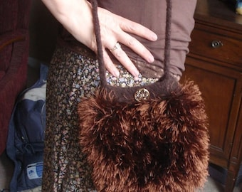 "The Furry and ""Fursatile"" Felted Purse"