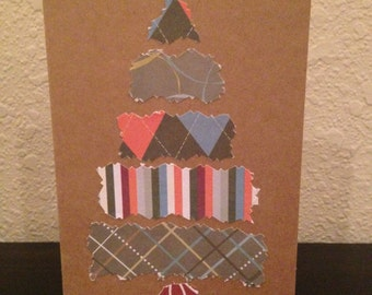 Christmas Tree Collage Card