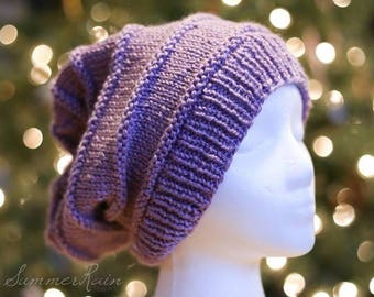 Textured Slouchy Hat (knit)