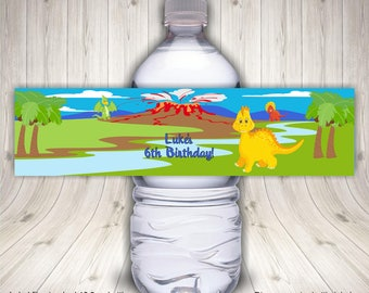 Dinosaur Lover, Dinosaur Birthday, Water Bottle Labels, Dinosaur Theme, Kids Dinosaur Party, Dinosaur Party Favor, Dinosaur Party Ideas