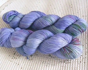 Hyacinth - Hand Dyed Speckled Sock Yarn